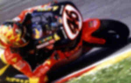 Valentino Rossi and his Aprilia