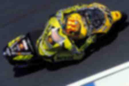 Valentino Rossi and his Honda