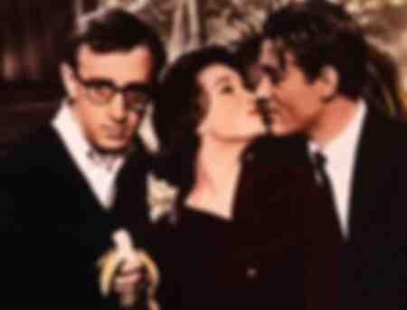 Woody Allen Romy Schneider och Peter O Toole i filmen What's New Pussy