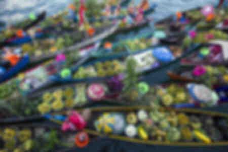 Marché flottant de Banjarmasin