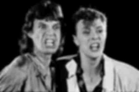 Mick Jagger en David Bowie in 1985