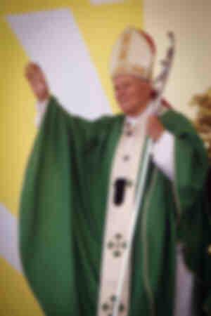 Papst Johannes Paul II. in Lecce
