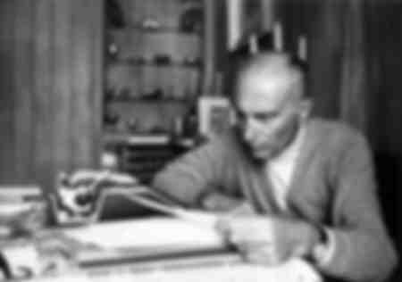 Indro Montanelli nella sua residenza estiva di Cortina d'Ampezzo