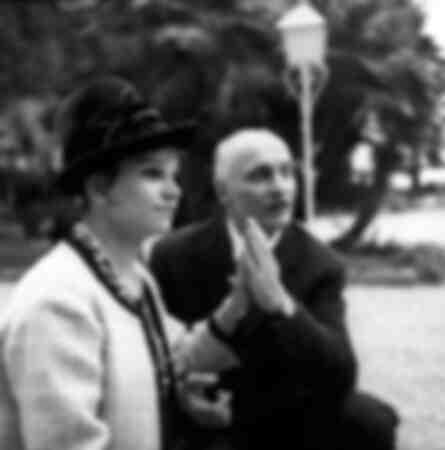 Milva con il marito il regista Maurizio Corgnati